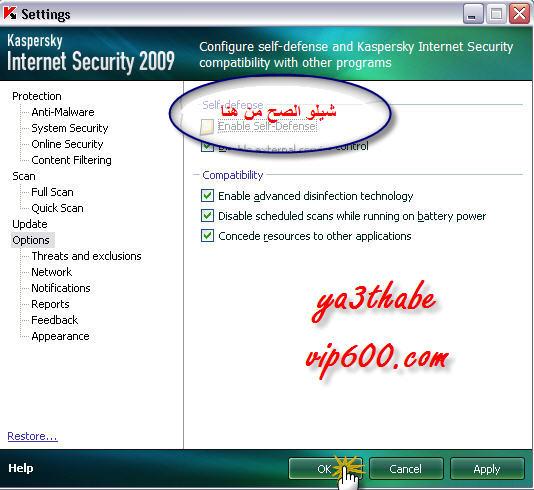 الكاسبر النسخه الرسميه 2009 + التعريب + الشرح Kaspersky Internet Security 2009 21
